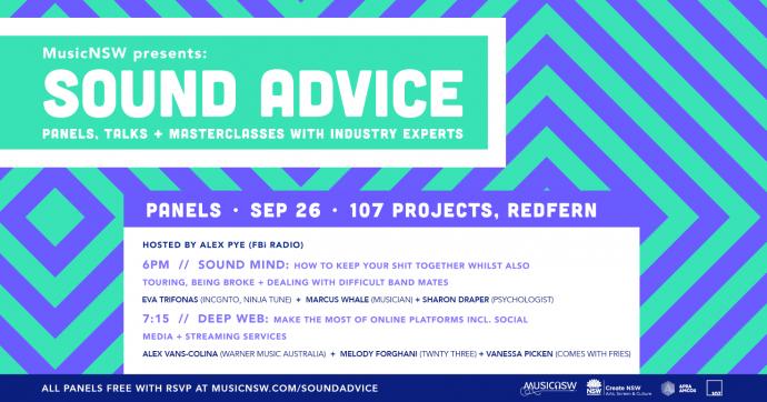 Free industry panels! Sound Advice: Sound Mind & Deep Web