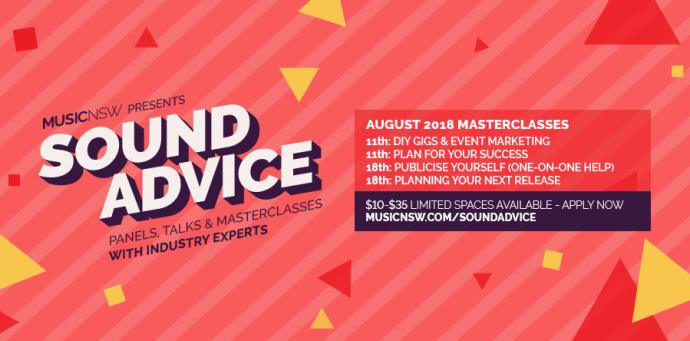 Sound Advice Masterclasses August