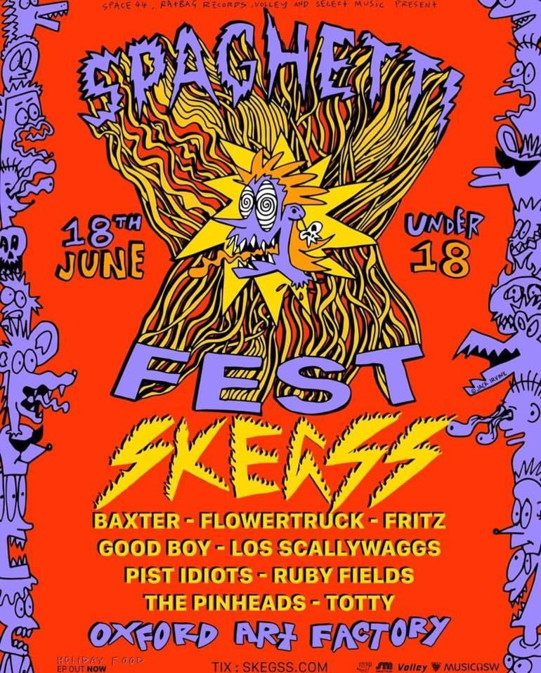 Skegss Spaghetti Fest Poster