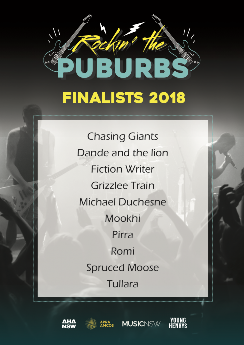 ROCKING THE PUBURBS FINALISTS