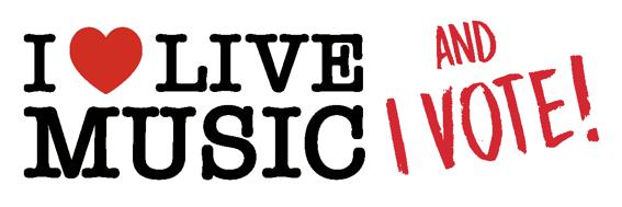 I Love Live Music and I Vote
